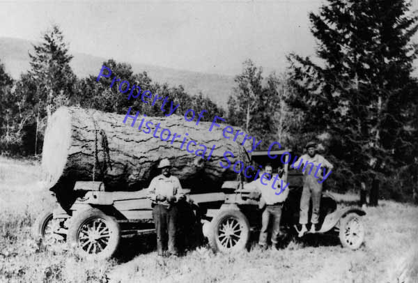 Pine Log - P082322- © Ferry County Historical Society