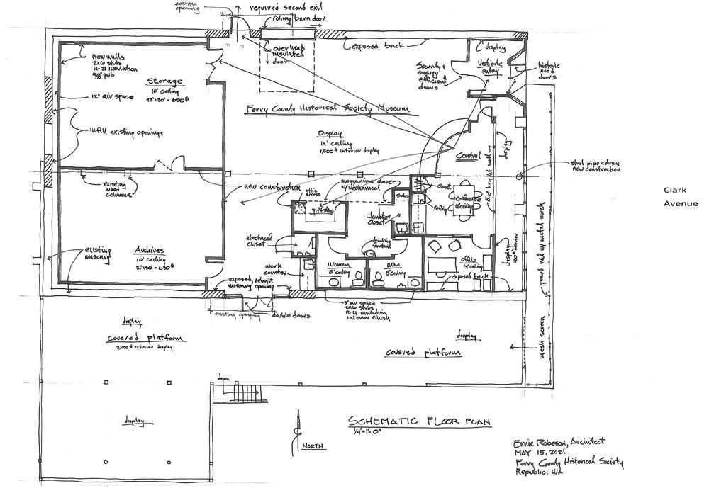 L.H. Mason Building Architect Plans for Interior