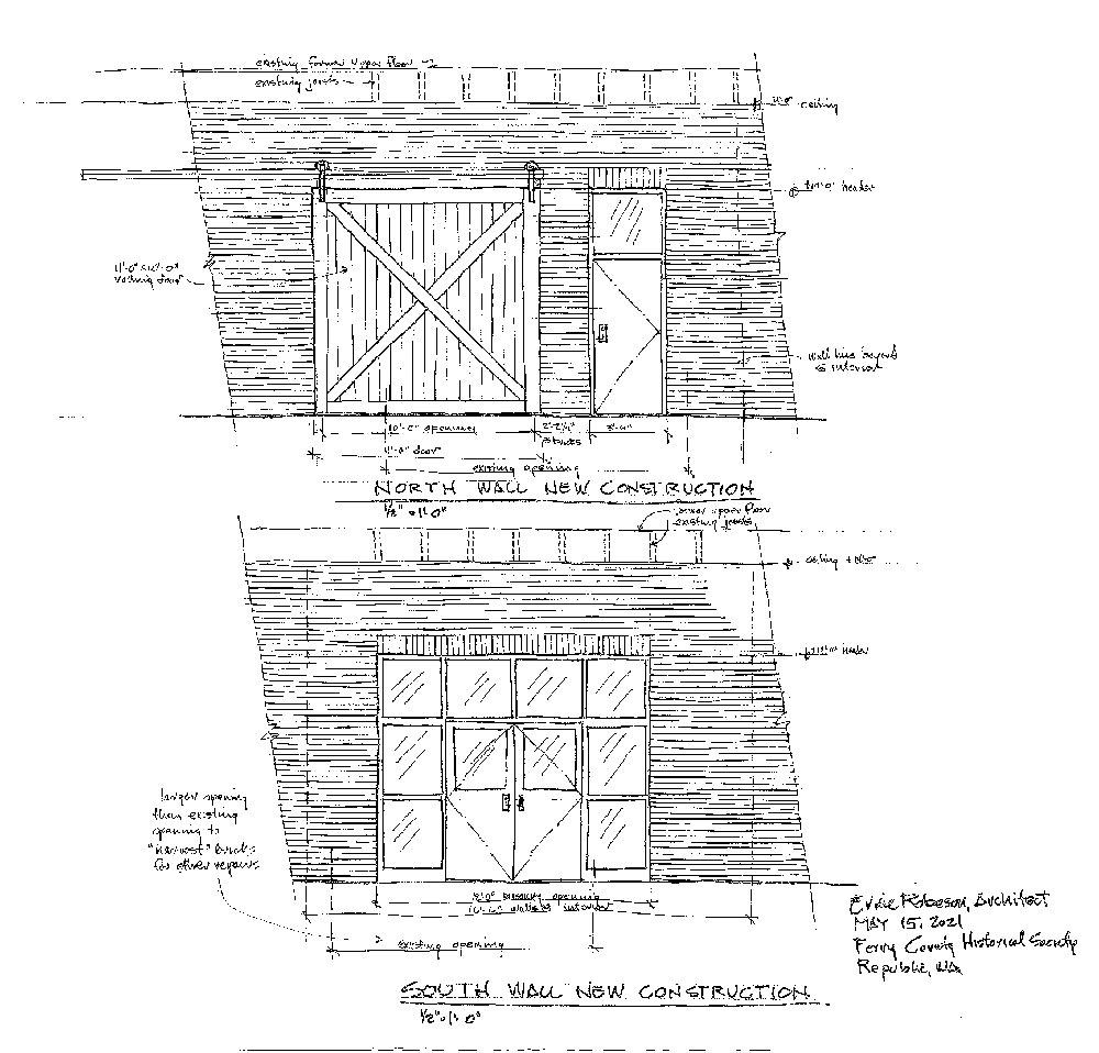 L.H. Mason Building Architect Plans Exterior Doors